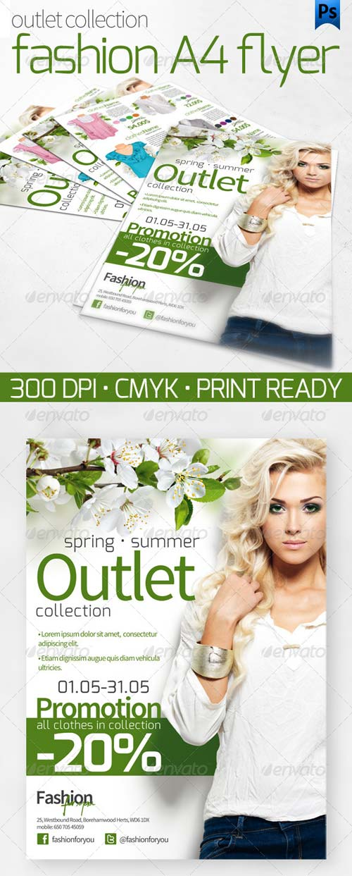 GraphicRiver Outlet Collection A4 Flyer