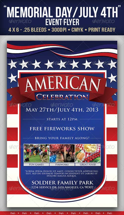 "GraphicRiver ""American"" Memorial/Independence Day Event Flyer"