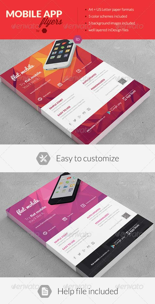 GraphicRiver Mobile Application Promotion Flyers / Phone App 3