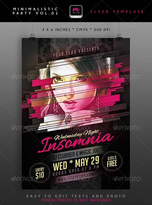 GraphicRiver Minimalistic Party Flyer 1