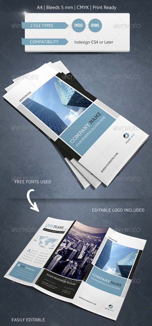 GraphicRiver Modern & Corporate Trifold Brochure Template