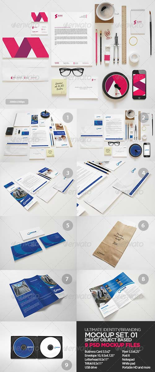 GraphicRiver Ultimate Identity / Branding Mock-Up Set 01