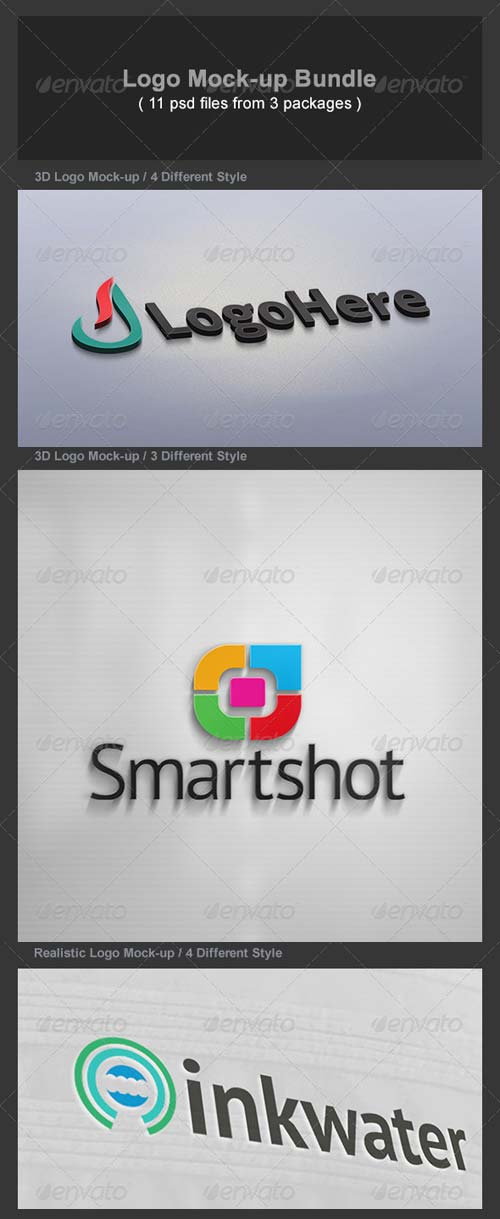 GraphicRiver Logo Mock-up Bundle