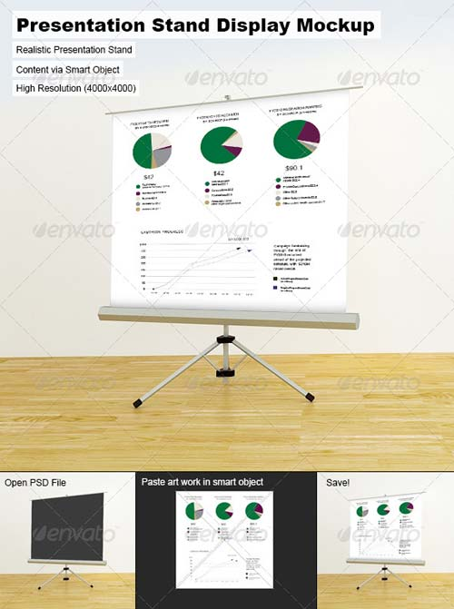 GraphicRiver Presentation Stand Display Mock-Up