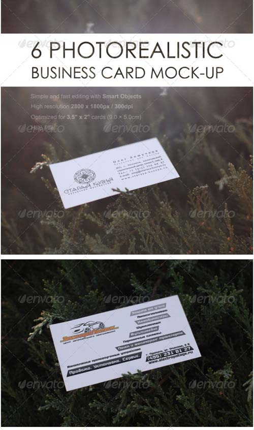 GraphicRiver Photorealistic Business Card Mock-Ups