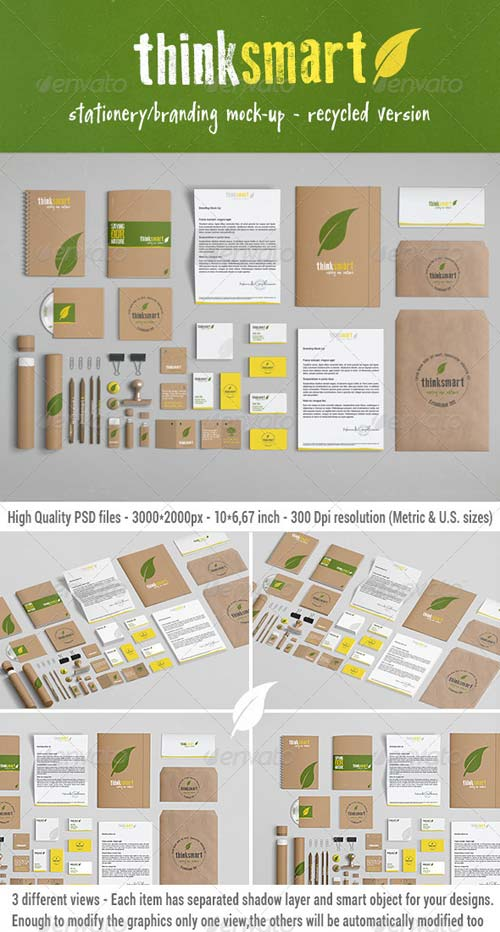 GraphicRiver Branding / Identity Mock-Up - Recycled Version