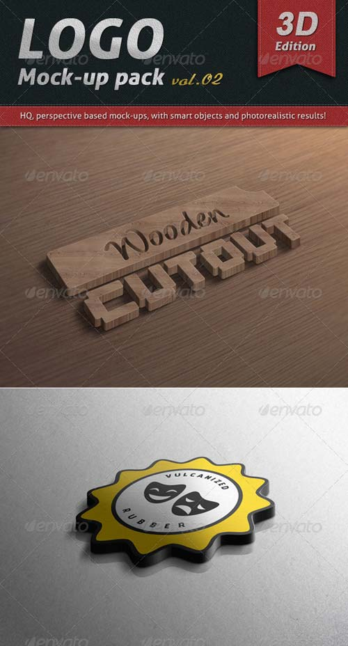 GraphicRiver Logo Mock-up Pack Vol.02 / 3D Edition