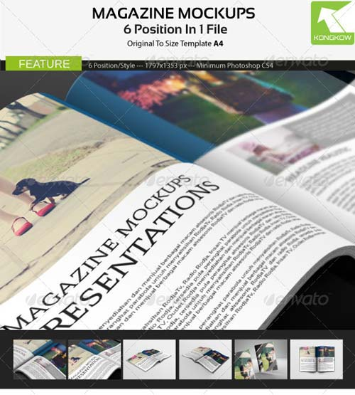 GraphicRiver Magazine Mockups 4795792