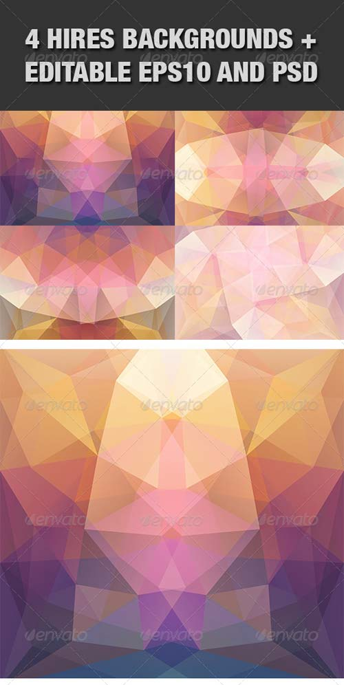 GraphicRiver Colorful Abstract Symmetry Backgrounds Set