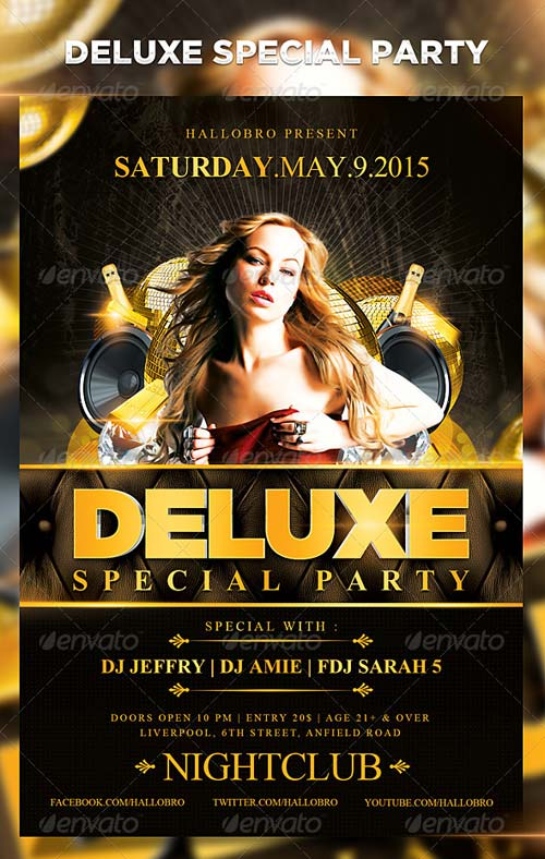 GraphicRiver Deluxe Special Party Flyer