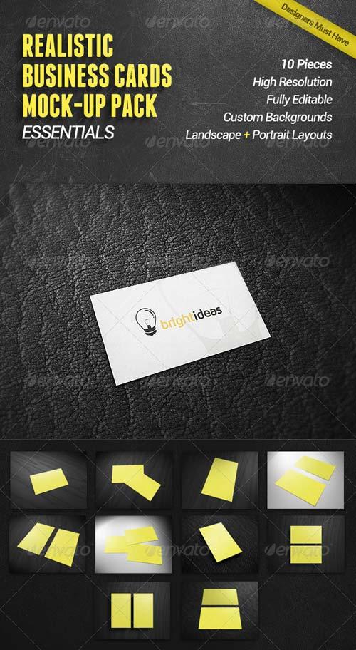 GraphicRiver Business Cards Mock-Up Pack | Essentials