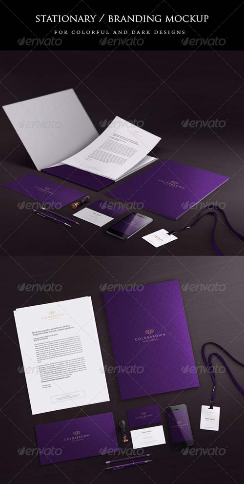 GraphicRiver Stationary / Branding mock-up 4871237