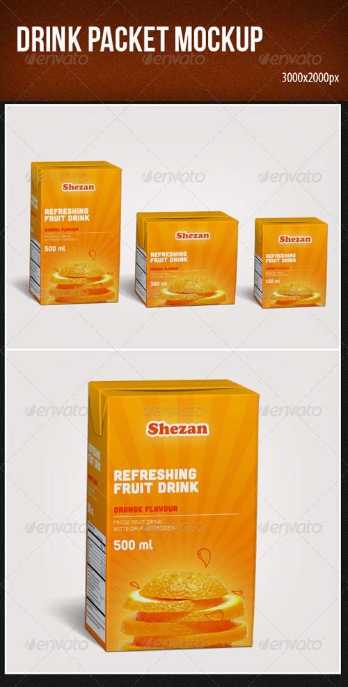 GraphicRiver Drink Packet Mockup