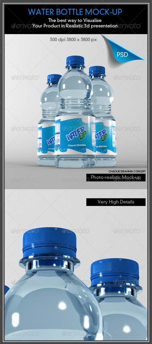 GraphicRiver Water Bottle Mock-Up