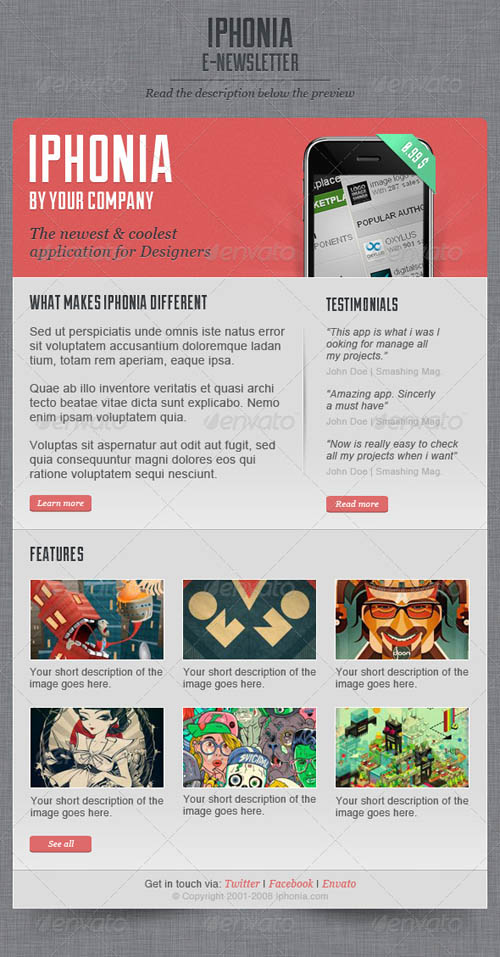 GraphicRiver iPhonia Email Newsletter Template