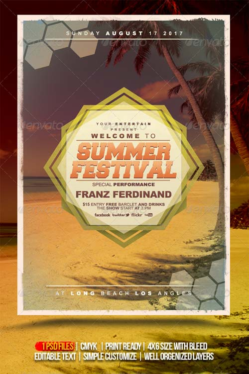 GraphicRiver Summer Festival Flyer/ Poster Template