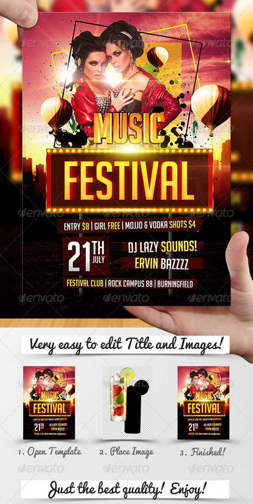 GraphicRiver Music Festival Flyer Template