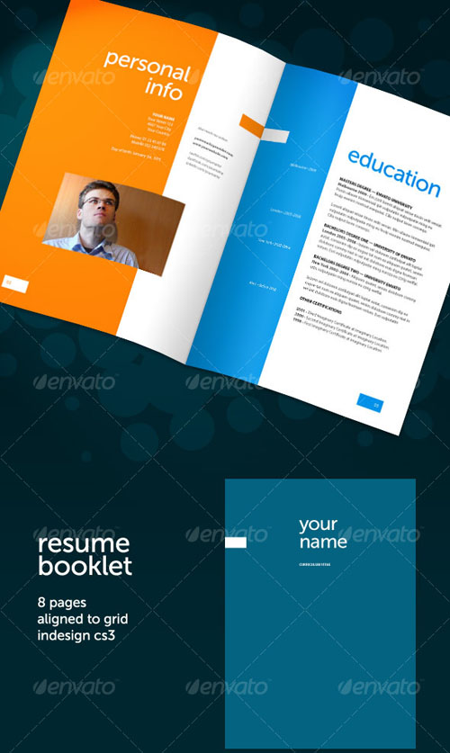 GraphicRiver Resume Booklet (8 pages)