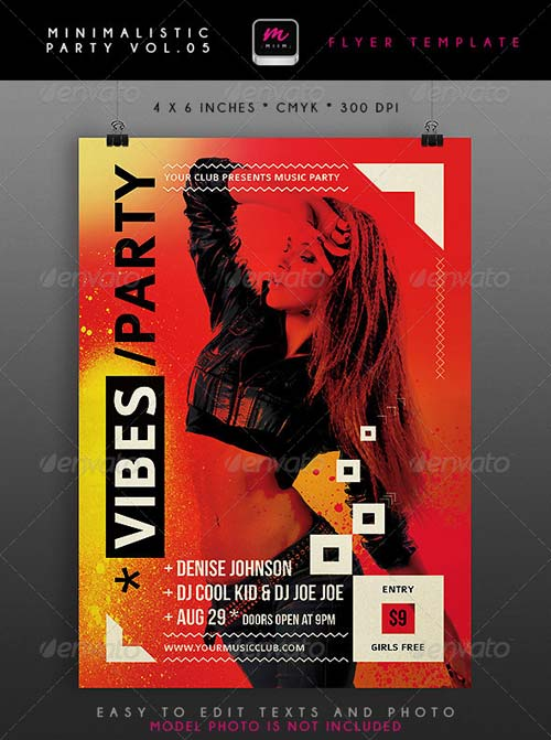GraphicRiver Minimalistic Party Flyer 5