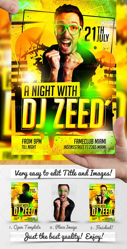 GraphicRiver DJ ZEED Party Flyer Template