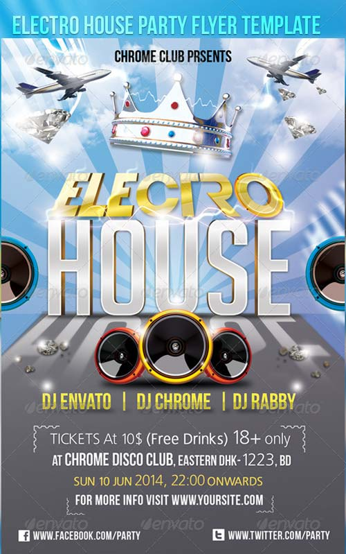 GraphicRiver Electro House Party Flyer Template