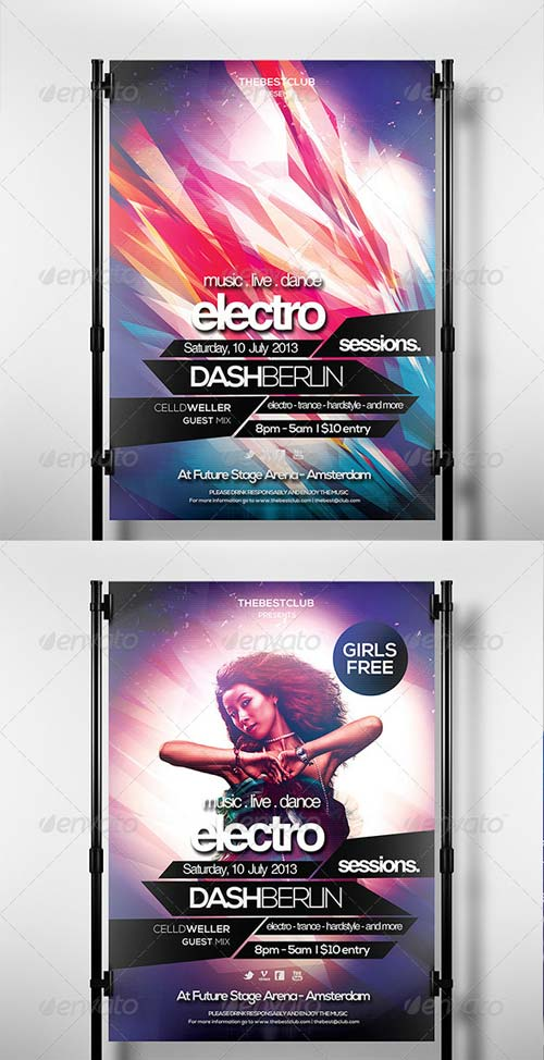 GraphicRiver Electro Sessions 3 Flyer Template