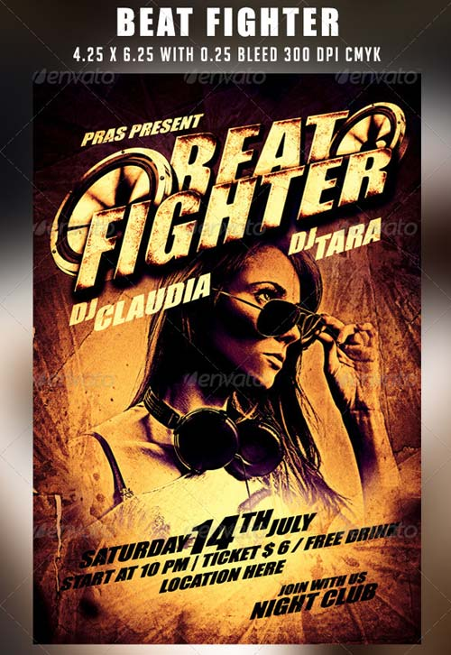 GraphicRiver Beat Fighter Flyer Template