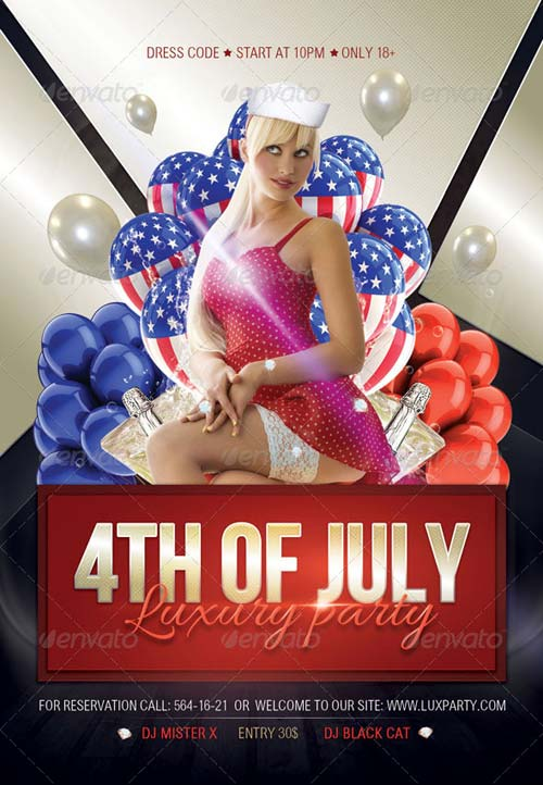 GraphicRiver 4th of July Luxury Party Flyer