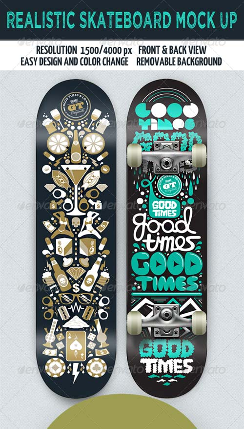 GraphicRiver Grapulo's Skateboard Mock-Up