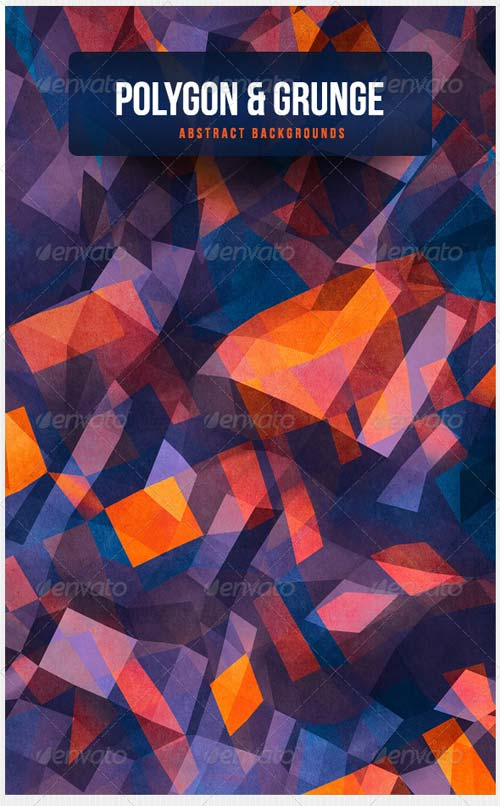 GraphicRiver Polygon & Grunge Abstract Backgrounds