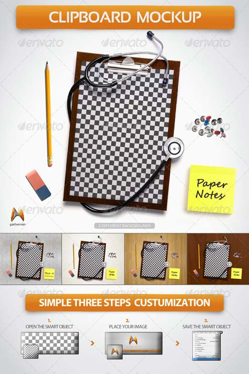 GraphicRiver Clipboard Board Mockup