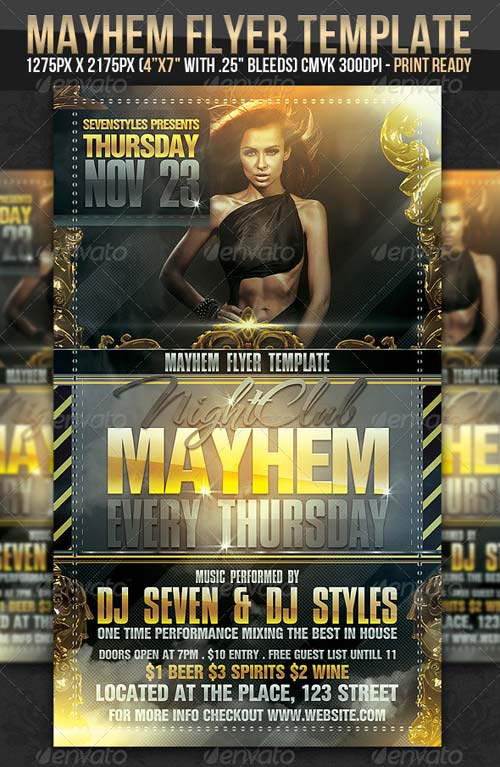 GraphicRiver Mayhem Flyer Template