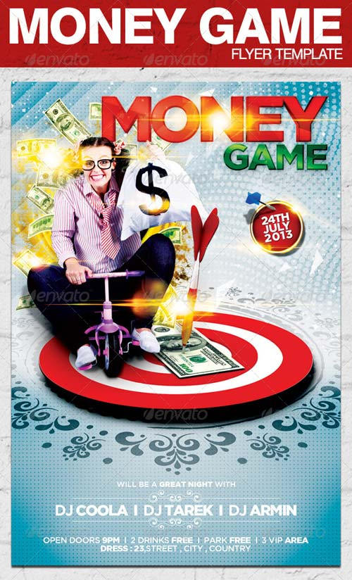 GraphicRiver Money Game Flyer Template