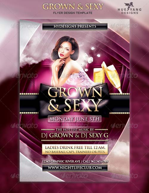 GraphicRiver Grown and Sexy Flyer