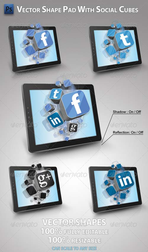 GraphicRiver Pad with Social Cubes