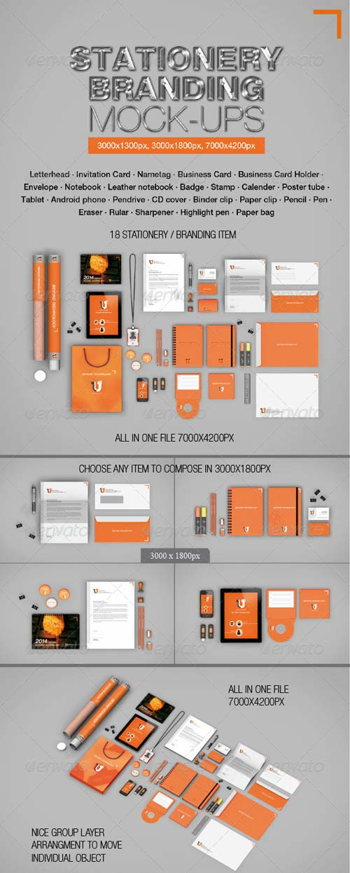 GraphicRiver Stationery Branding Mock-ups