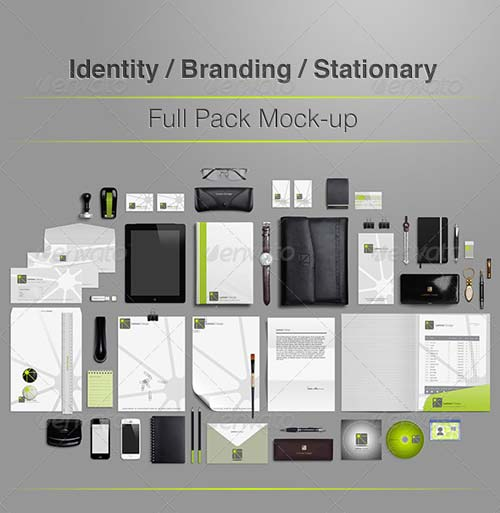 GraphicRiver Identity Branding Stationery Full Pack Mock-up