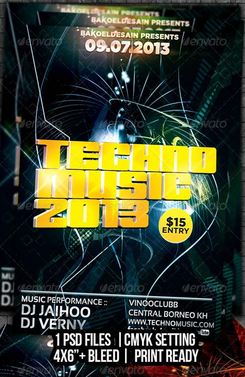 GraphicRiver Techno Music 2013 Flyer Volume 5