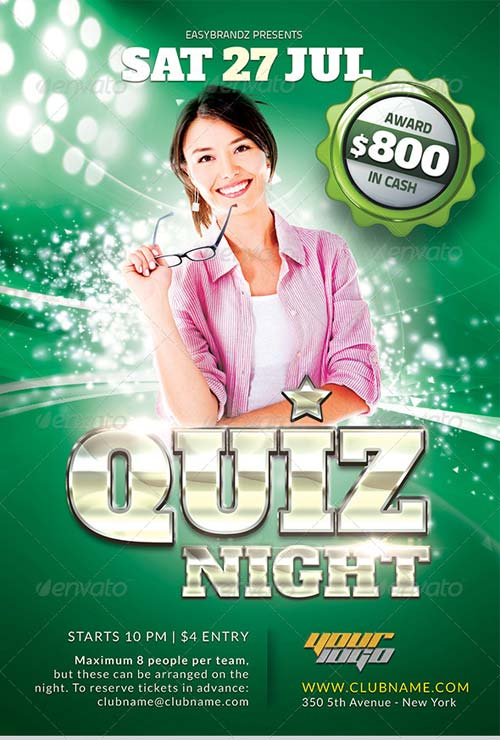 GraphicRiver Quiz Night Flyer Template