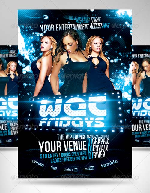 GraphicRiver Super Bass Party Flyer