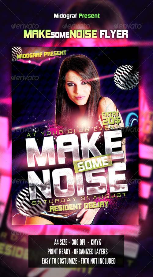 GraphicRiver Make Some Noise Flyer