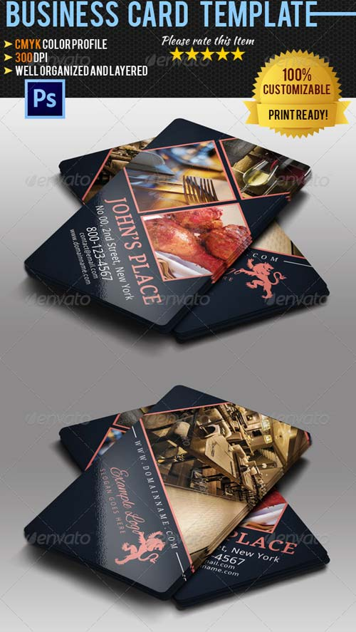 GraphicRiver Restaurant/Chef Business Card 2
