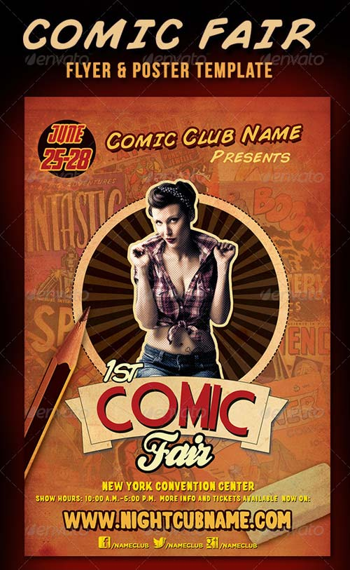 GraphicRiver Comic Faire Poster & Flyer Template