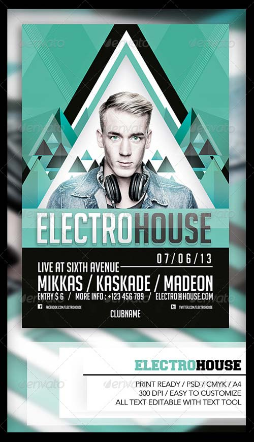 GraphicRiver Electro House Flyer