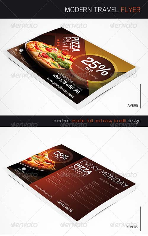 GraphicRiver Flyer For Pizza Restaurant