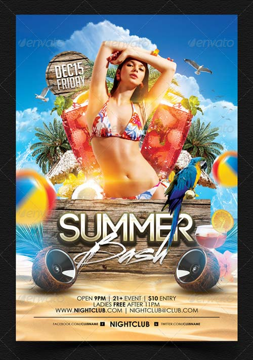 GraphicRiver Summer Bash Flyer Template 4914355