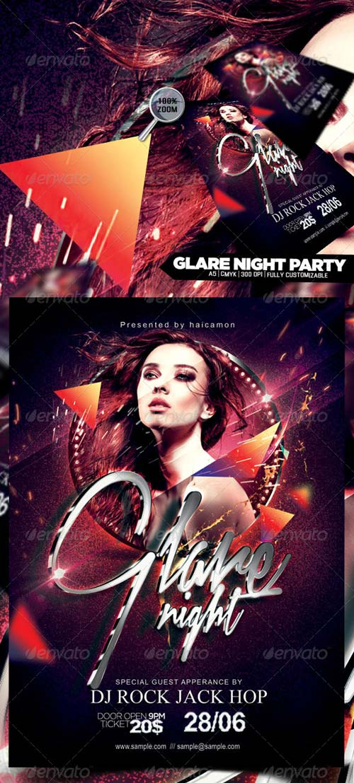 GraphicRiver Glare Night Party Flyer
