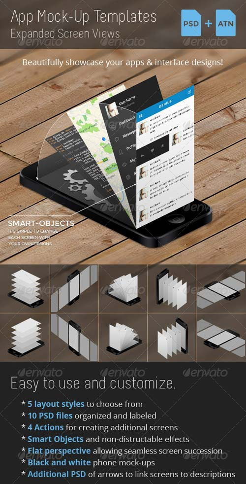 GraphicRiver App Mock-Up Templates