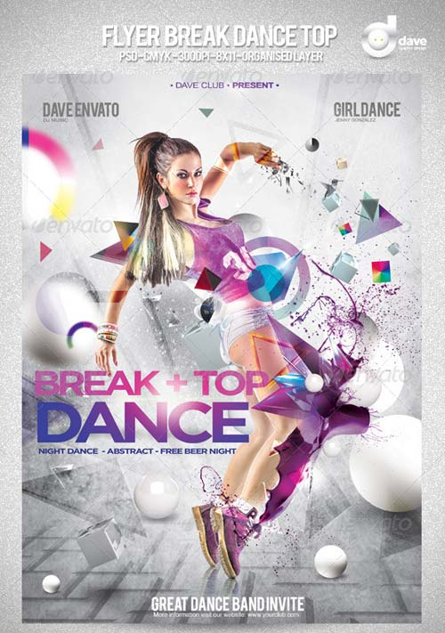 GraphicRiver Flyer Break Dance Top Party
