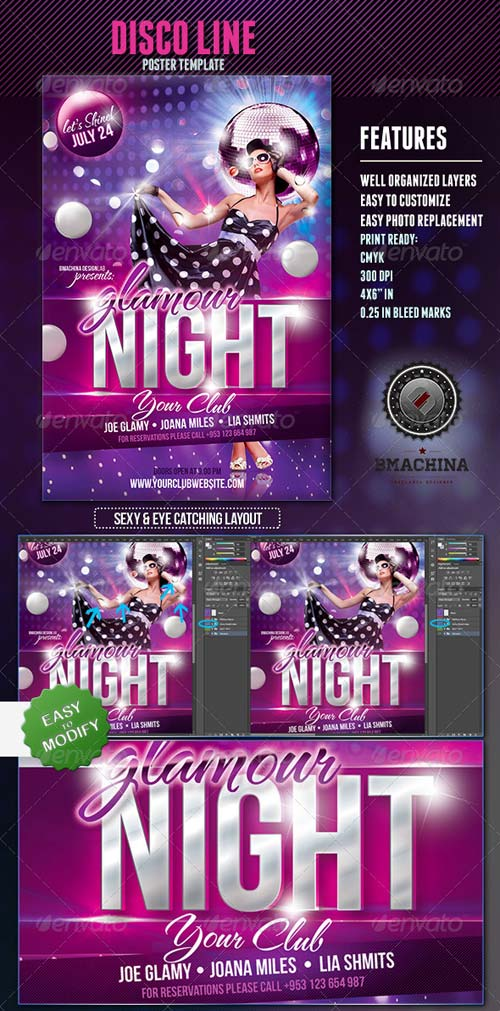 GraphicRiver GlamourNight - Flyer Template
